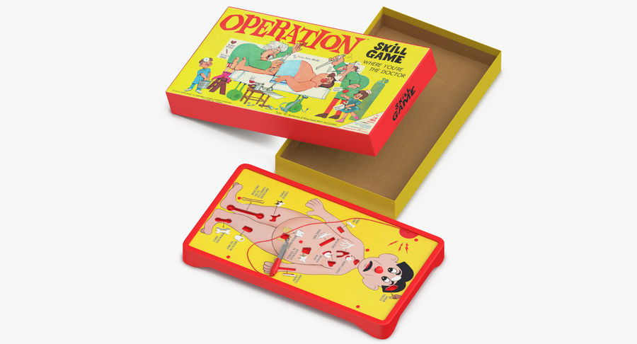 Operation Game Toy royalty-free 3d model - Preview no. 13