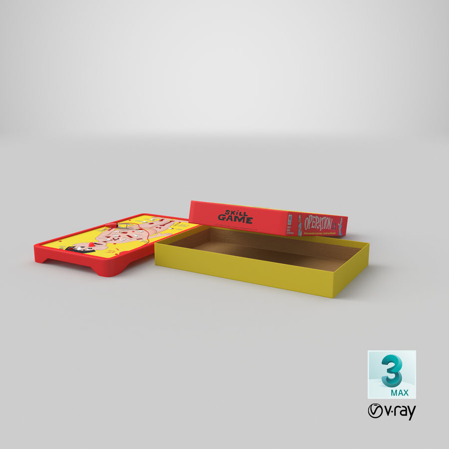 Operation Game Toy royalty-free 3d model - Preview no. 29