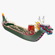 Buntes Drachenboot 3d model