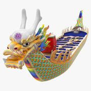 Traditional Dragonboat 3d model