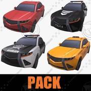PACCHETTO AUTO BASSO POLY 3d model