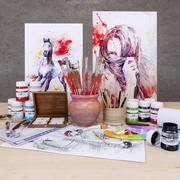 画家セット 3d model