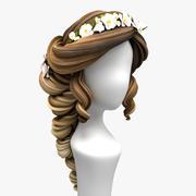 Tecknad hår (brudhårstil) 3d model