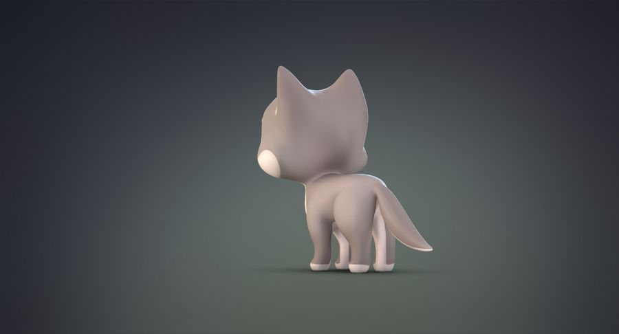 Cartoon Wolf royalty-free 3d model - Preview no. 9