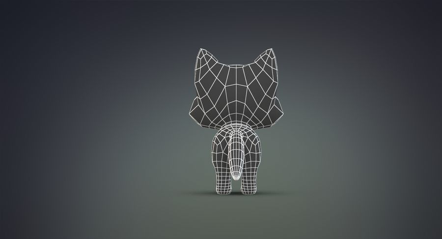 Cartoon Wolf royalty-free 3d model - Preview no. 24