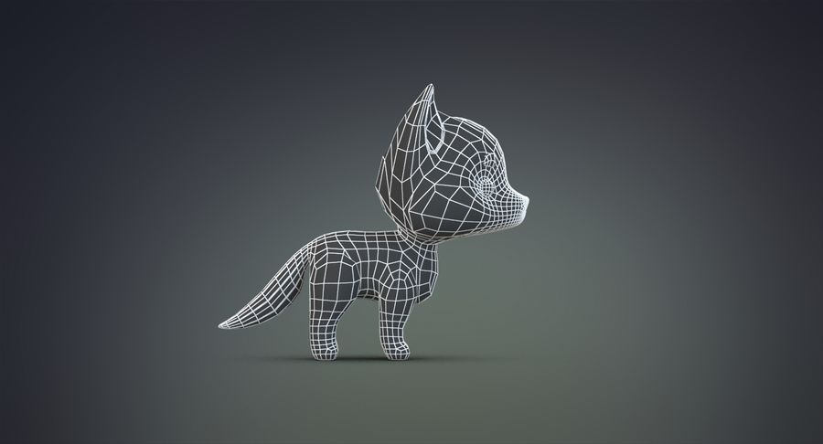 Cartoon Wolf royalty-free 3d model - Preview no. 25