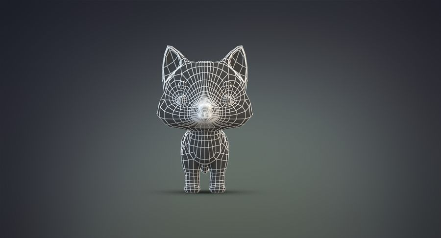 Cartoon Wolf royalty-free 3d model - Preview no. 21