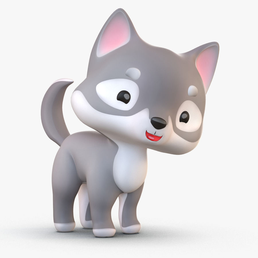 Cartoon Wolf royalty-free 3d model - Preview no. 1