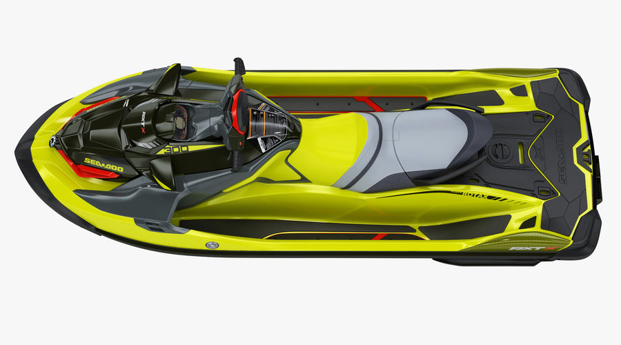 Sea-Doo RXT-X 300 Performance Watercraft 2019 royalty-free 3d model - Preview no. 11