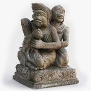 猿の家族像 3d model