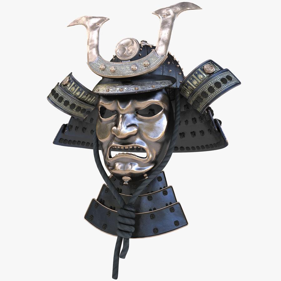 Helm Samurai royalty-free 3d model - Preview no. 1