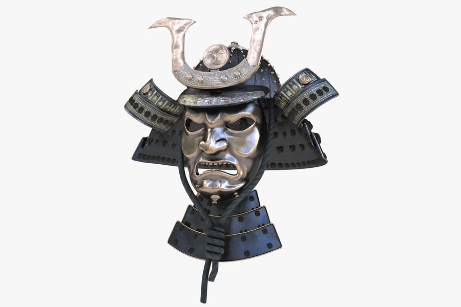 Helm Samurai royalty-free 3d model - Preview no. 2