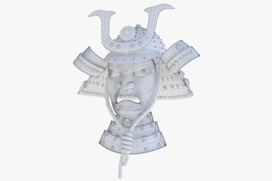 Helm Samurai royalty-free 3d model - Preview no. 7