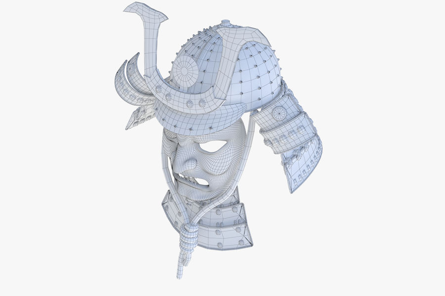 Helm Samurai royalty-free 3d model - Preview no. 9