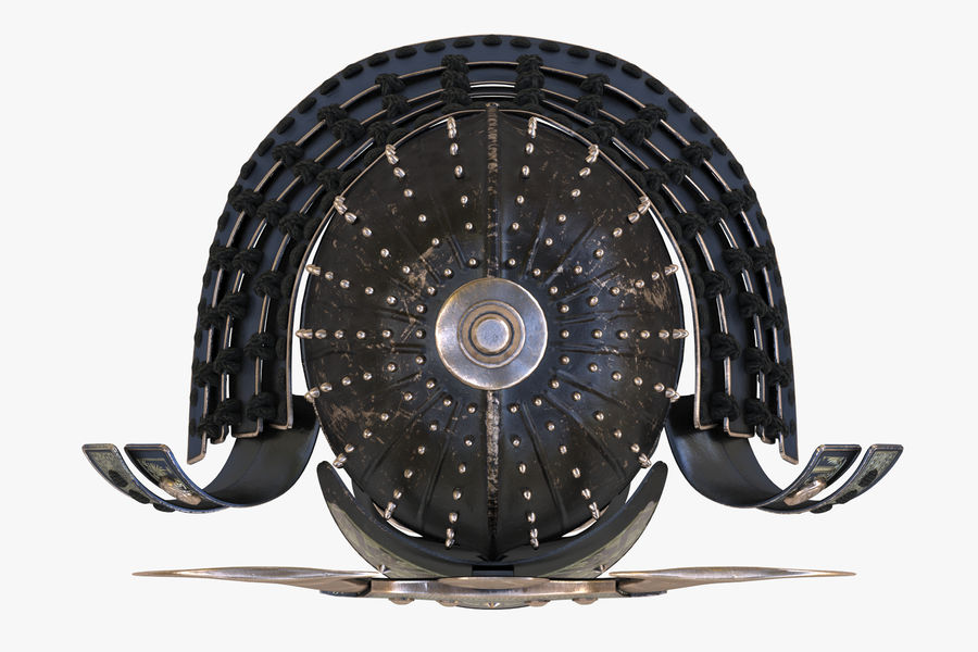 Helm Samurai royalty-free 3d model - Preview no. 5