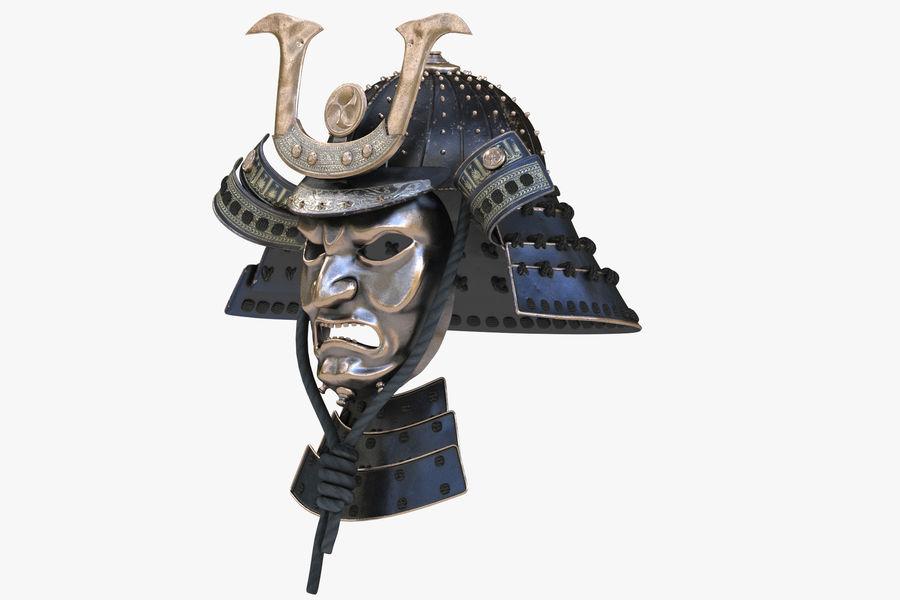 Helm Samurai royalty-free 3d model - Preview no. 4