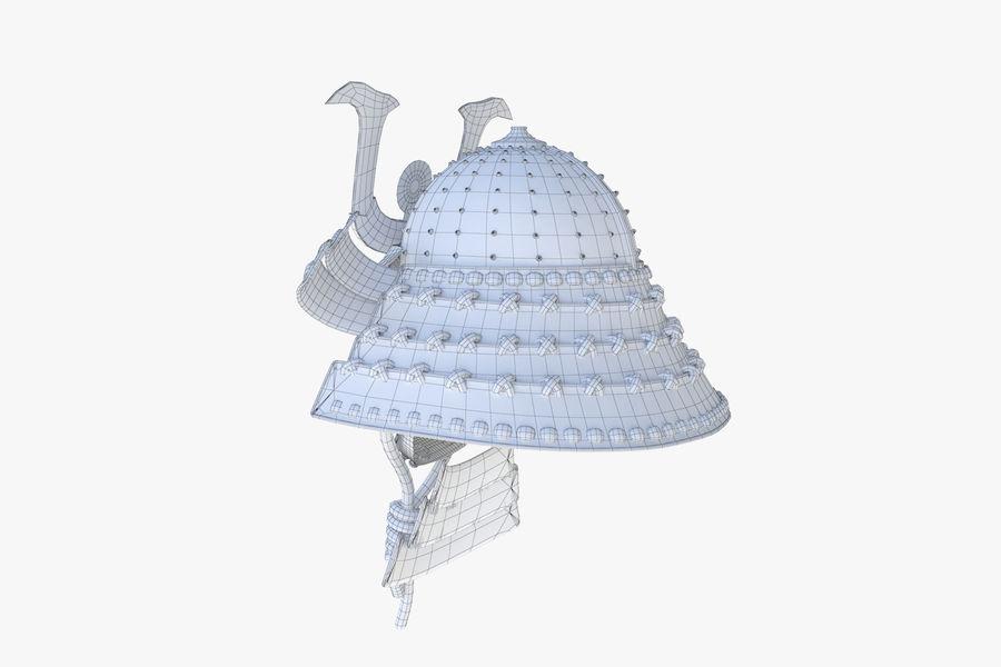 Helm Samurai royalty-free 3d model - Preview no. 8