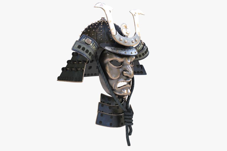 Helm Samurai royalty-free 3d model - Preview no. 6