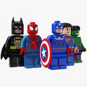 Супер герои лего 3d model