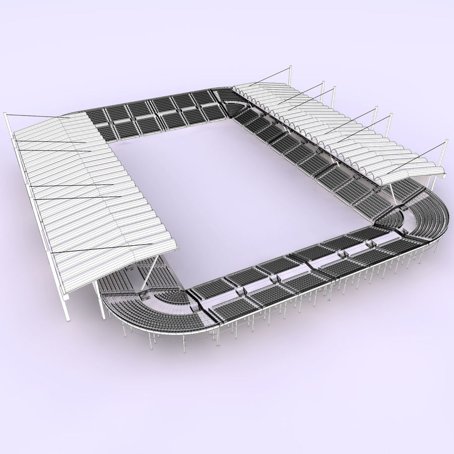 Stadium Arena royalty-free 3d model - Preview no. 9