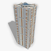 Rascacielos de residencia moderna modelo 3d
