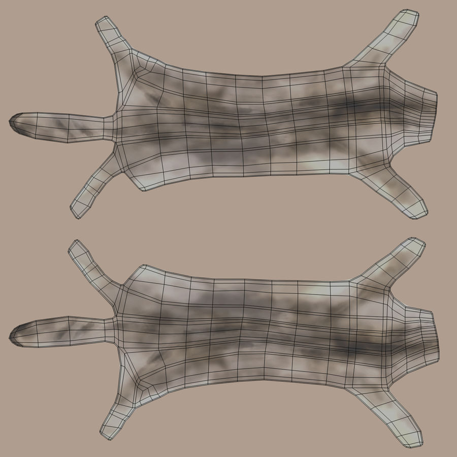Animal Skins royalty-free 3d model - Preview no. 11