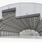 Ангар для технического обслуживания самолетов 3d model