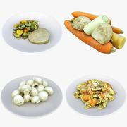 Еда-Коллекция еды 04 (1) 3d model