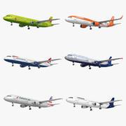 Airbus A321 6 Kolekcja Liveries 3d model