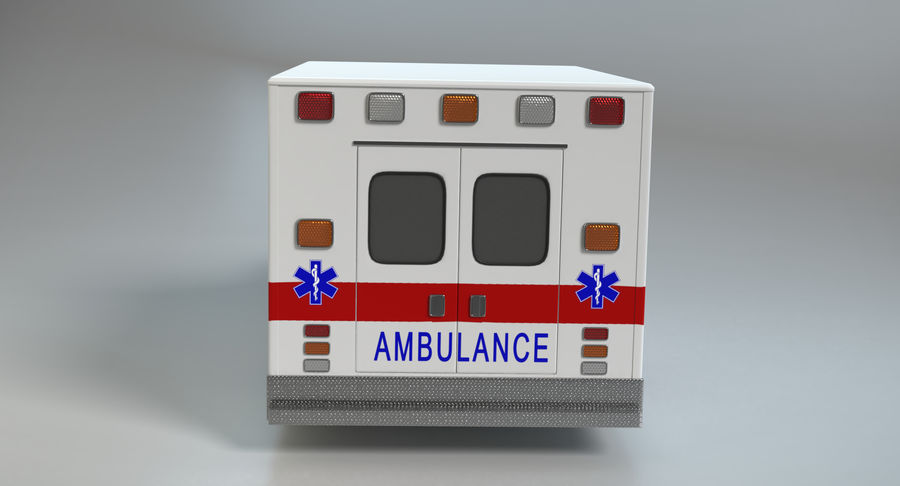 Ambulancia royalty-free modelo 3d - Preview no. 7