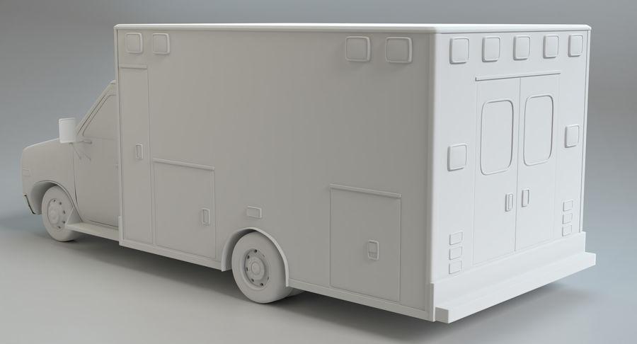 Ambulancia royalty-free modelo 3d - Preview no. 15