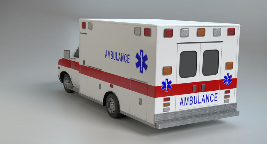 Ambulancia royalty-free modelo 3d - Preview no. 8