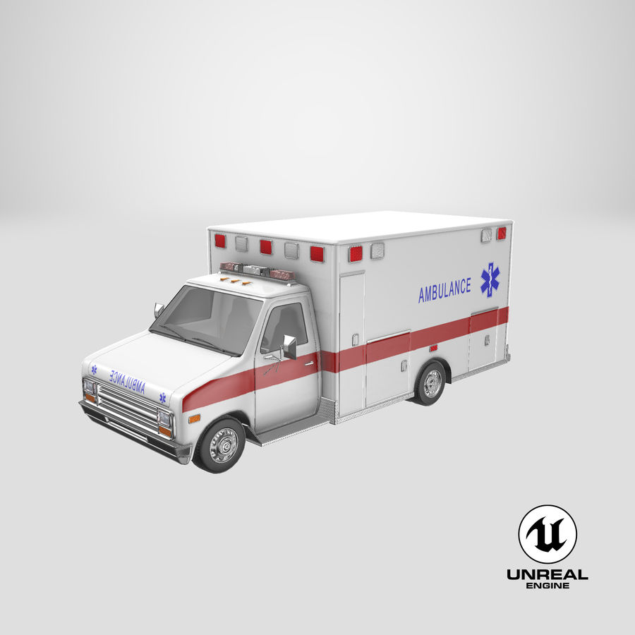 Ambulancia royalty-free modelo 3d - Preview no. 30
