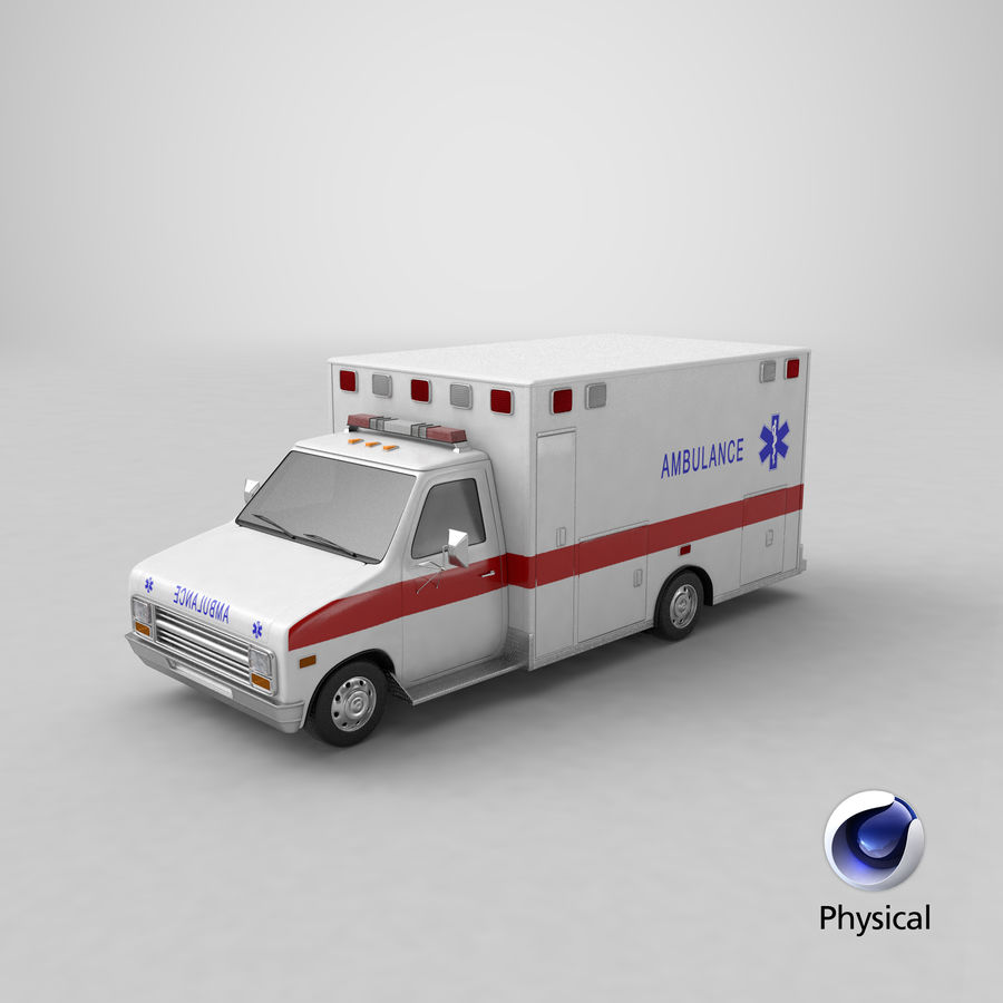 Ambulancia royalty-free modelo 3d - Preview no. 32