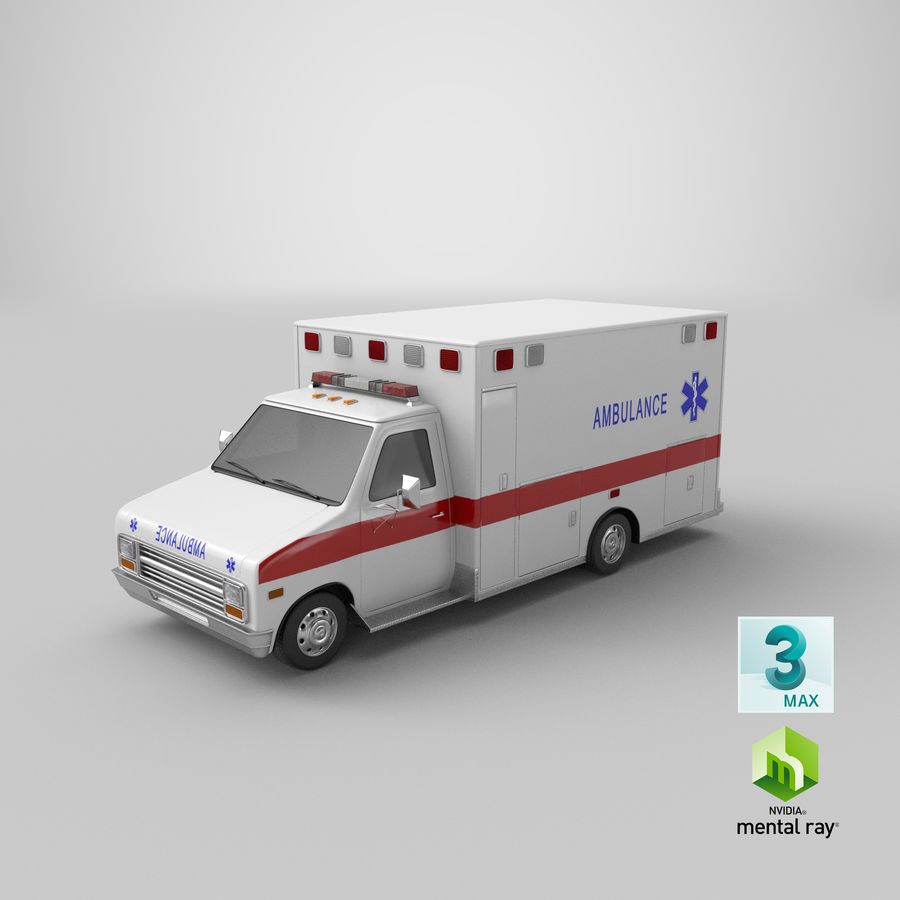 Ambulancia royalty-free modelo 3d - Preview no. 29