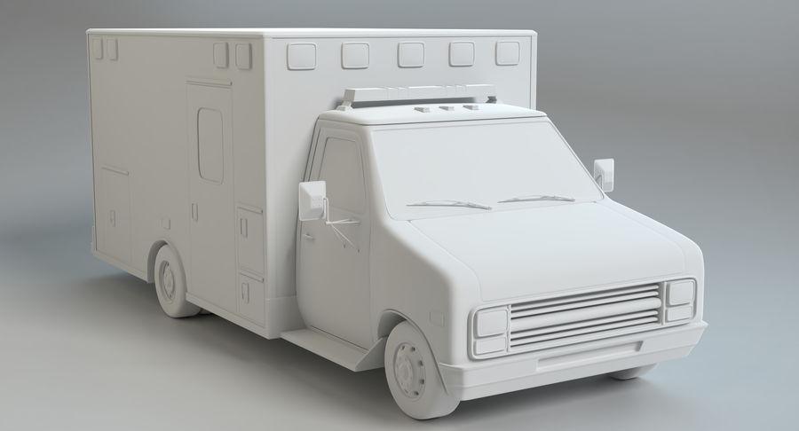 Ambulancia royalty-free modelo 3d - Preview no. 12