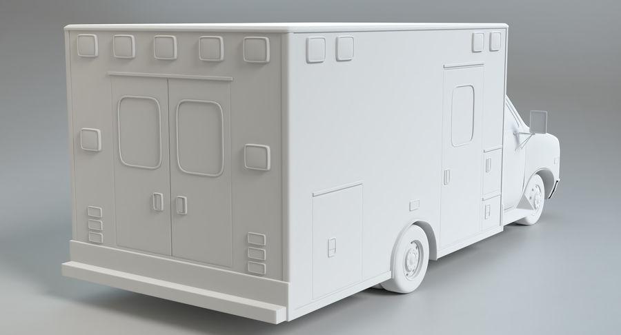Ambulancia royalty-free modelo 3d - Preview no. 14