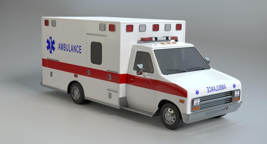 Ambulancia royalty-free modelo 3d - Preview no. 4