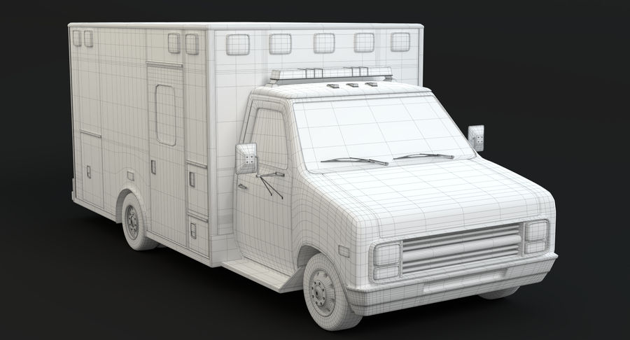 Ambulancia royalty-free modelo 3d - Preview no. 18