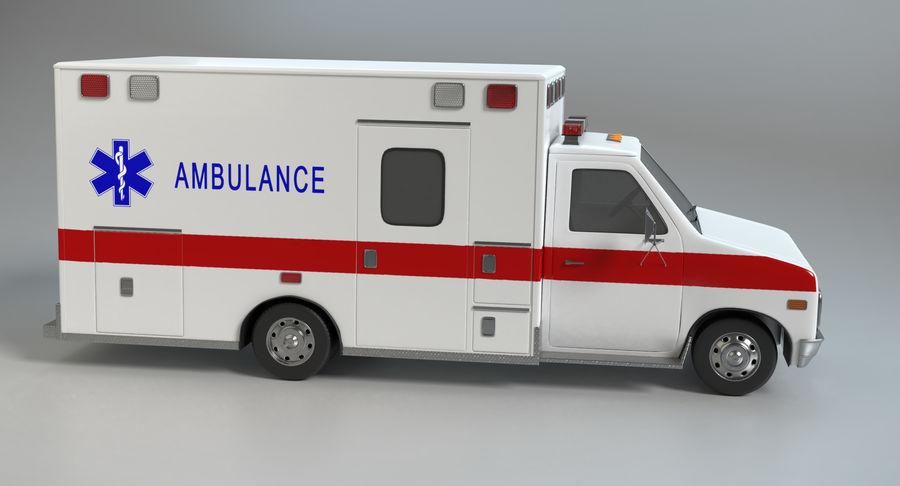 Ambulancia royalty-free modelo 3d - Preview no. 5