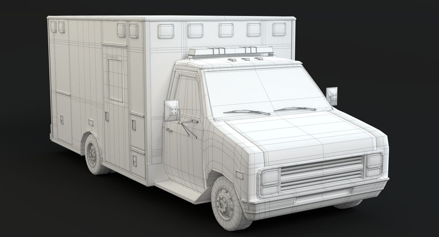 Ambulancia royalty-free modelo 3d - Preview no. 16