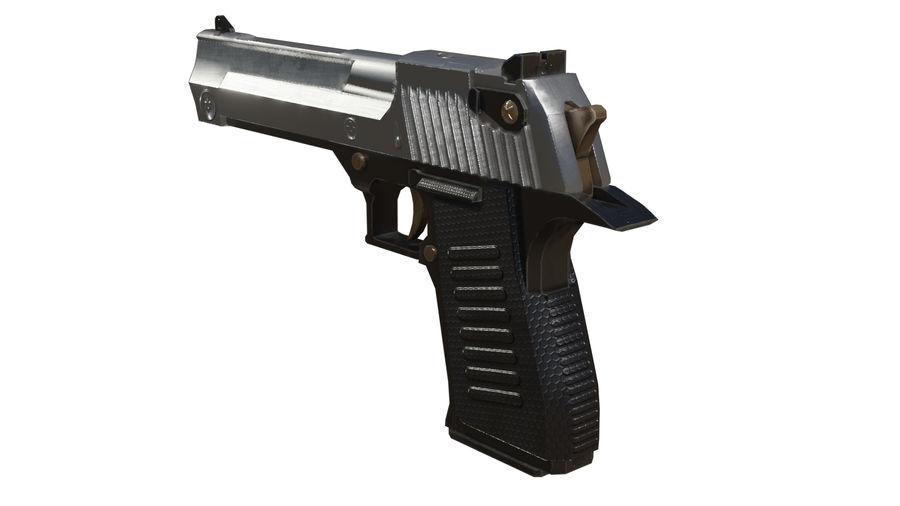 Pistola pistola royalty-free modelo 3d - Preview no. 5