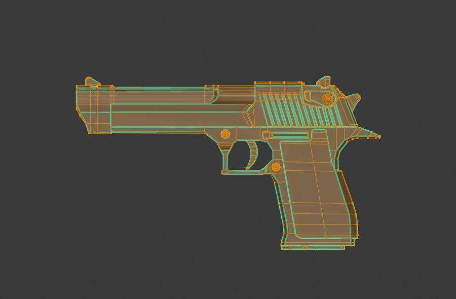 Pistola pistola royalty-free modelo 3d - Preview no. 6