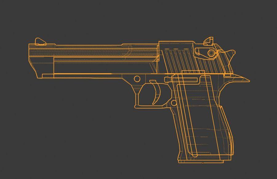Pistola pistola royalty-free modelo 3d - Preview no. 8
