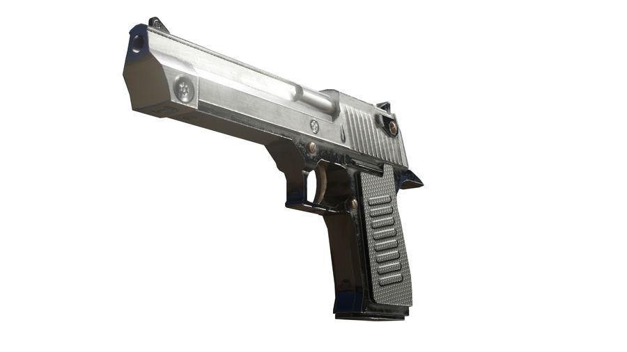 Pistola pistola royalty-free modelo 3d - Preview no. 3