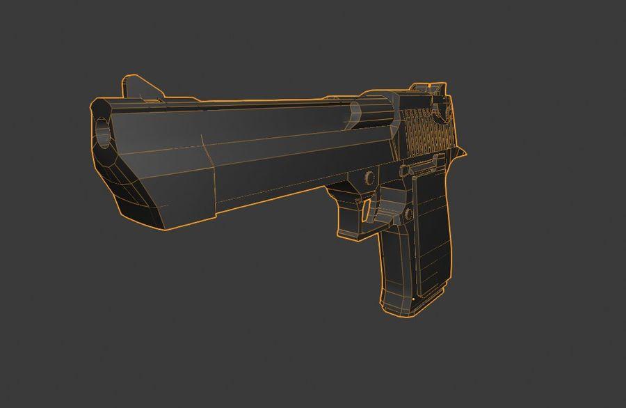 Pistola pistola royalty-free modelo 3d - Preview no. 7