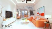 3DS max Modell Vollmaterialien + Einstellungen Wohnzimmer Küche P8 3d model