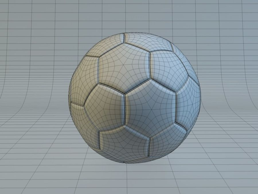 Soccer Ball royalty-free 3d model - Preview no. 7