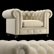 扶手椅切斯特菲尔德 3d model