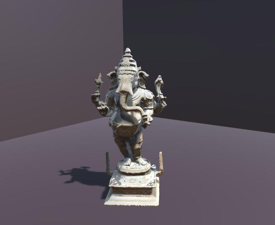 Hindu Hod Lord Ganesha royalty-free 3d model - Preview no. 6